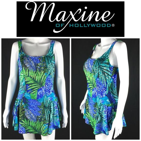 d4377c812f Azul Maxine of Hollywood Plus Sz 18 Swim Dress. M_5a85a68605f430bdcdcedba5